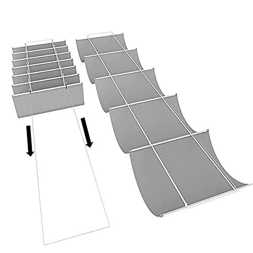 GZHENH Cubierta De Sombra para Pérgola De Patio Exterior Balcón Techo Cubierta De Sombra De Repuesto para Pérgola Retráctil Usado para Sombra, Personalizable (Color : Gray, Size : 1x3m)