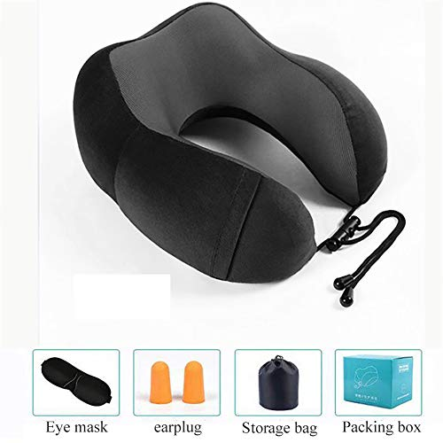 U-geformtes Reisekissen,unterstützt Neck Memory Schaumstoff Neck Kissen Gemütlich Atmungsaktive Abdeckung Ergonomisch Für S.-b
