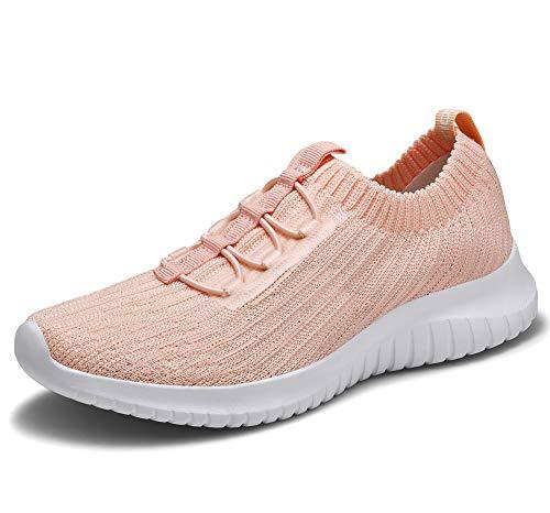Tiosebon Zapatillas de senderismo para hombre, ligeras, casuales, para ocio, al aire libre, para caminar