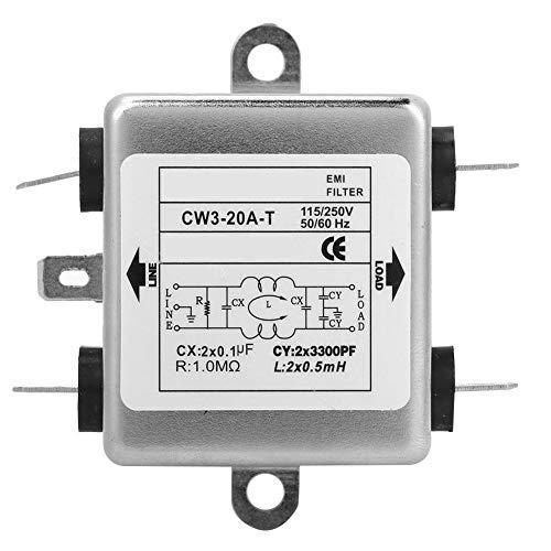 Filtro EMI de Potencia para Supresor de Ruido CW3-20A-T Módulo de Alimentación Monofásico 115v/250v 50/60hz
