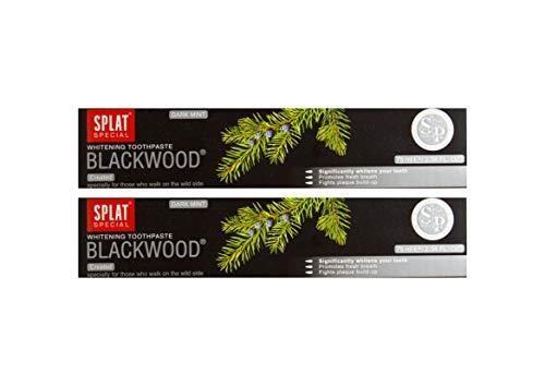 2x SPLAT BLACKWOOD fluoridfreie Kohle Zahnpasta blutstillend und entzündungshemmend