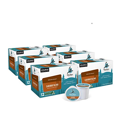 Caribou Coffee Caribou Blend, Single Serve Coffee K-Cup Pod, Medium Roast