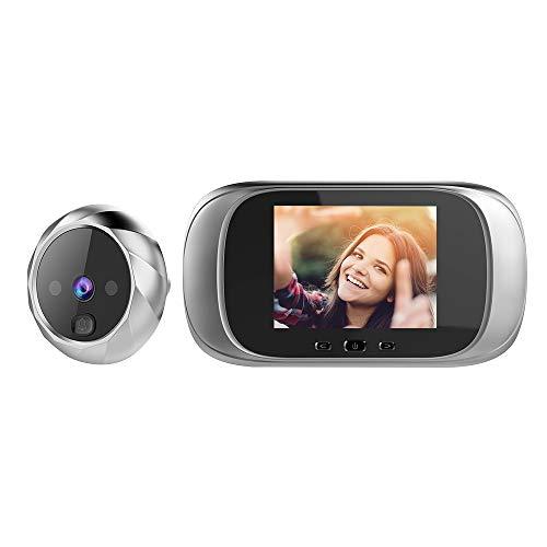 Festnight Digital Door Viewer Spioncino Porta Telecamera Campanello Schermo LCD da 2,8 pollici Visione notturna Ripresa fotografica Monitoraggio porta digitale per la sicurezza domestica