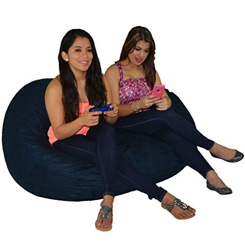 Bean Bag Chair 5' with 29 Cubic Feet of Premium Foam Inside a Protective Liner Plus Removable Machine Wash Microfiber Cover by Cozy Sack