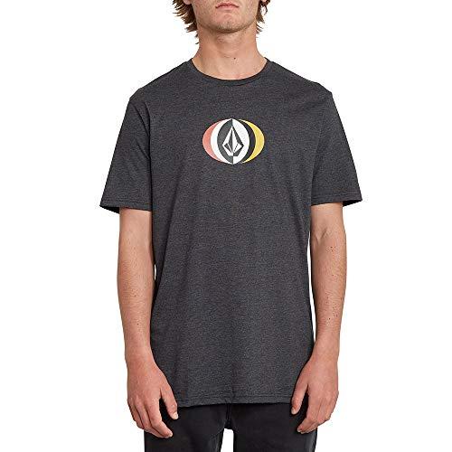 Volcom T-Shirt Vasthth SS pour Homme. S Noir Gris