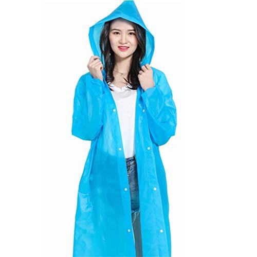 qwert Waterdichte Poncho's, Draagbare Volwassen Doorschijnende Hooded Regen/Regenjas Poncho met Mouwen voor Camping/reizen/bergbeklimmen