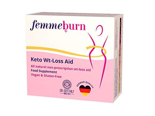 Dr. Gotthilf 1927 FemmeBurn | Slimming Pills for Women| Weight Loss Keto Diet Pills | Appetite-suppressant | 25 Keto Strips | Natural Fat-Burner Pills | 60 Vegan Capsules | Made in EU
