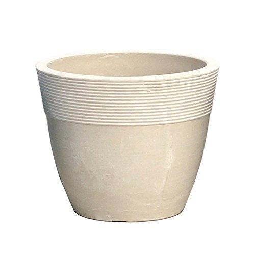 【Planterior】 ハイドロカルチャーに の鉢 ストーンウッドポット M 各色 (ホワイト)
