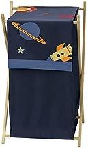 Sweet Jojo Designs Baby Children Kids Clothes Laundry Hamper for Space Galaxy Rocket Ship Bedding Set