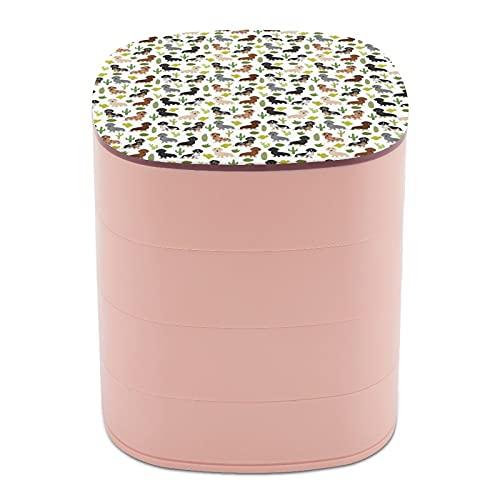 Joyero organizador redondo de 4 capas, giratorio de 360 grados, para anillos, pendientes, collares,...