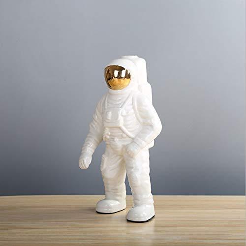 Romote Vasen Ceramic White Astronaut Vase Dekorative Kreative Spaceman Figuren Einzelne Blume Halter Desktop-Dekoration Wohnaccessoires