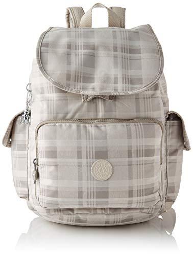 Kipling Women City Pack Backpack Handbag, Soft Plaid, One Size