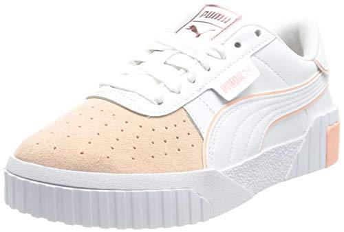 PUMA Cali Layer Remix WN S, Zapatillas Mujer, Blanco Apricot Blush Sun Kissed Coral, 41 EU