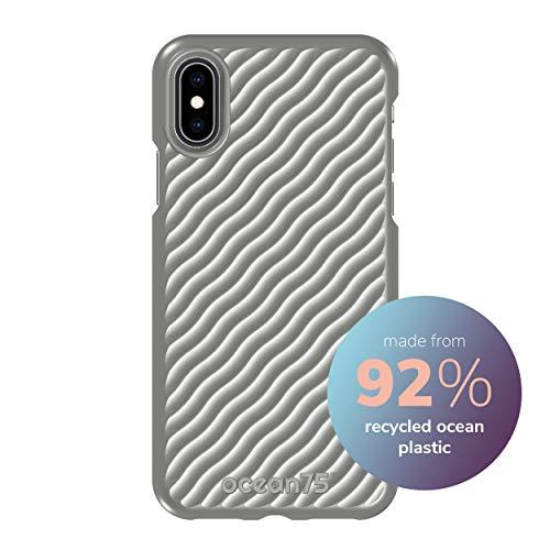 Ocean75 Umweltfreundlich Designed für iPhone X, iPhone XS Hülle, Ozean-inspirierte nachhaltige Handyhülle aus recycelten Fischernetzen - Delphin Grau