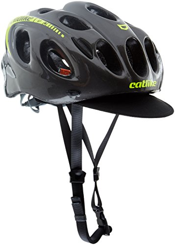 Catlike Kompact'O Urban Casco de Ciclismo, Unisex adulto, Gris/Amarillo (Flúor), L/59-61