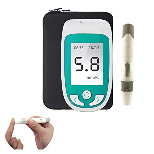 SUN RDPP Blutzuckermessgerät 3 in 1 Multifunktions-Blutzucker, Harnsäure, Cholesterin-Monitor, mit Teststreifen-Analysegerät
