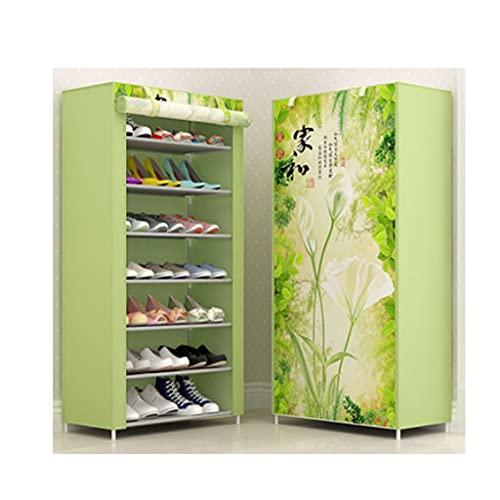 OIFFIY Shoe Rack Storage Manager 28 Pares de una Sola Fila portátil Cubierta no Tejida de Zapatos para el hogar Gabinetes Gabinetes Ahorros (Color : There is a Way to Make a Fortune)