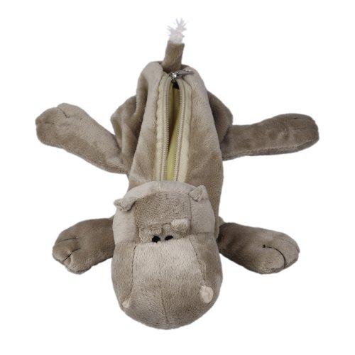 Y-BOA – Trousse à Crayons/Ecole/Maquillage –Animal Mignon- Enfant/Adult–Pochette Peluche- Cosmetique/Fourniture Scolaire (#12 Brun Hippopotamus)