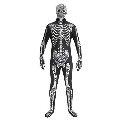 Morphsuits Men's Adult Costume, Day of The Dead, Large