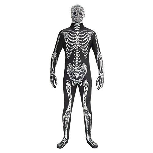 Morphsuits MPDDL - Costume Day of The Dead, Taglia L, 163-175 cm