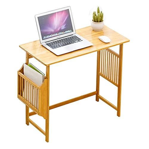 Barnens studiebord Studie Rum Datorbord Sovrum Anteckningsbok Tabell Matbord för 2~4 personer Vuxen Skrivbord (Color : Wood, Size : 60cm)