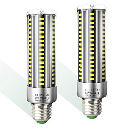 E27 LED 25W Kaltweiß Superhelle Led E27 Mais Birne 6000K 3000LM Entspricht Glühbirnen 250W, Edison Schraube E27 Led Birnen E27 Maiskolben Led Lampe E27 Energiesparlampe Nicht Dimmbar, 2er-Pack