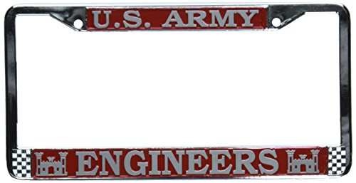 TAG FRAMES (MILITARY) U.S. Army Engineers License Plate Frame (Chrome Metal)