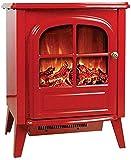 Calefactor 2000W portátil cocina eléctrica estufa eléctrica - 54 cm Autosoportados chimenea con la configuración del calentador y ventilador 2 con realistas y brillantes quema de fuego en 3D y leña bl