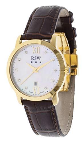 RSW RSW6346 - Orologio da donna analogico al quarzo, in pelle