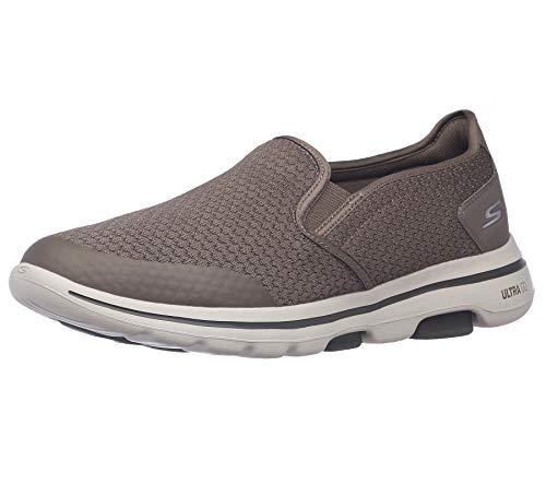 Skechers Men's Gowalk 5 Apprize-Double Gore Slip on Performance Walking Shoe, Khaki, 11 M US