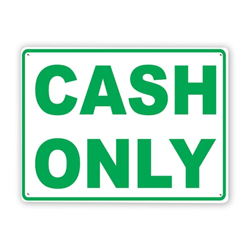 Warning Sign,Cash Only Accepted Sign2,Traffic Sign Road Sign Business Sign 8x12 Inch...