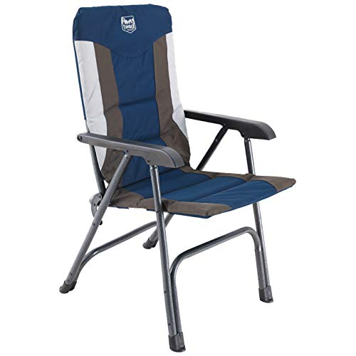 TIMBER RIDGE High Back Folding Camping Chair for Outdoor Garden Patio Lawn, Support up to 300 lbs (Blue)…