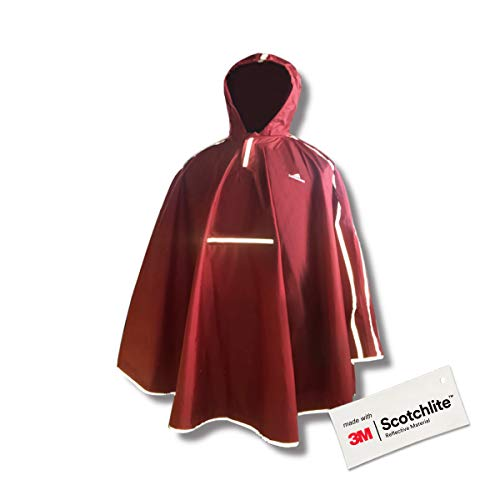Salzmann 3M Reflektierender Regenponcho für Kinder - Wasserdichtes Regencape für Mädchen und Jungen - Hergestellt mit 3M Scotchlite