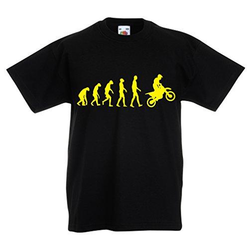 lepni.me Kinder jongens/meisjes T-shirt Motocross ontwikkeling vuil-fiets, motorfiets, hardlopend slijtage, motorfiets weg van Roading