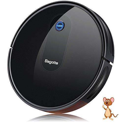 Aspirateur Robot, Bagotte BG600 aspirateur robot laveur 1600 Pa Succion, 6,9 cm Super Slim pour le nettoyage du pollen, des poils...