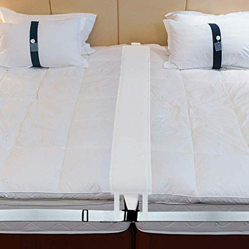Puente de cama, Kit convertidor de gemelo a rey, Conector de cama para dos colchones individuales Juego de conector de colchón ajustable, Almohadilla de relleno de espacio de cama para llenar el espac