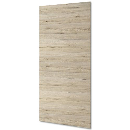 inova Holz-Schiebetürblatt Eiche San Remo Vollspan 880x2035 mm Tür-Blatt Holztür-Blatt Schiebetür