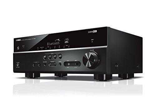 Yamaha RX-V385 MC AV-Receiver (Hochwertiger Mehrkanal-Receiver mit kraftvollem 5.1 Surround-Sound - ideal für das eigene Heimkinosystem – Kompatibel mit 4K Ultra HD) schwarz