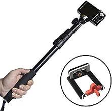 حمالة سيلفي قابل للتمديد لكاميرا الهواتف الذكية من طراز Z07-1 مزودة ببلوتوث قفل عن بعد - ابيض