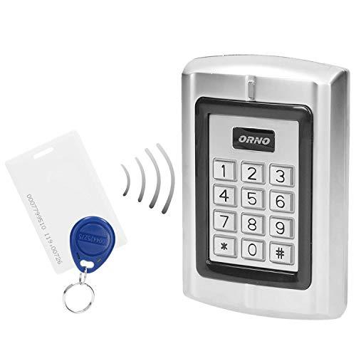 ORNO ZS-802 Wasserdicht Codeschloss mit Kartenleser und Kontaktlose Schlüsselanhängerleser, Eingebauter Speicher