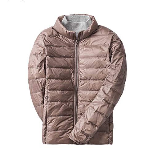 LaoZanA Damen Ultra Leicht Winter Mantel Übergangsjacke Steppjacke Parka Jacke Kaki 2XL