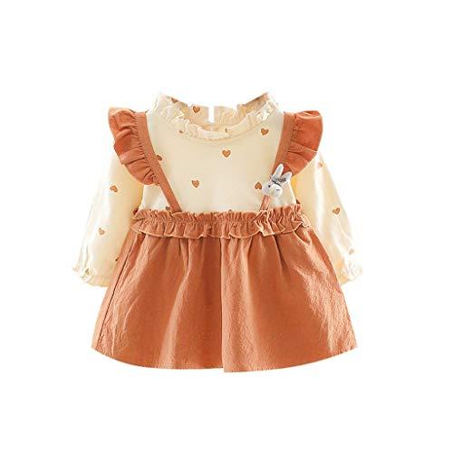 H.eternal(TM) Vestido de Princesa con Dibujos Animados para niñas y bebés, Vestido de Fiesta para bebé, Vestido Casual para niñas Verde Caqui M