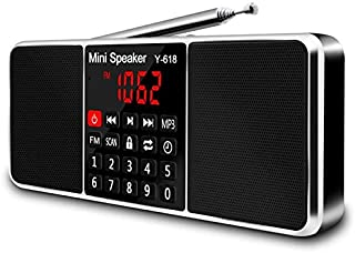 Multifunction Digital Fm Radio Media Speaker Mp3 Music Player Support Tf Card USB Drive with Led Screen Display and Timer ...