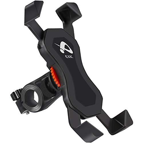 DXK Fahrrad Handyhalterung, 360 ° Drehung Universal verstellbare Halterung für Fahrrad, Motorrad, Motorrad, Moped, Roller Wasserdicht AntiShake & rutschfest - 3,5 bis 6,5 Zoll Smartphone