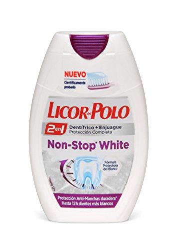 LICOR DEL POLO 2 en 1 dentífrico + enjuague bucal non stop white bote 75 ml