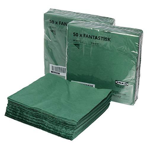 IKEA FANTASTISK, servilletas de papel de 3 capas, 40 x 40 cm, juego de 150 unidades (604.259.96)