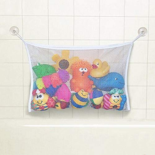 1PC Portable Mesh Bath Toy Organizer Bathtub Storage Suction Cup For Household Bathroom Kid Baby Toy Organizer Bag