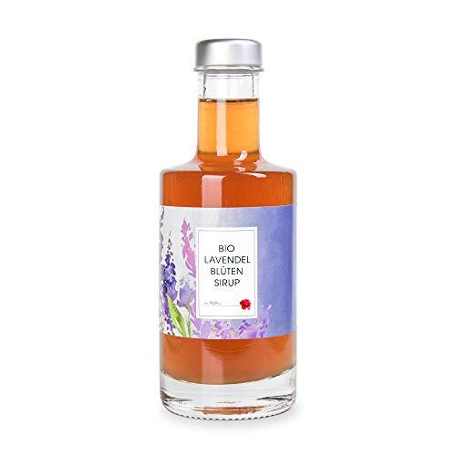 Bio Sirup Lavendel, Lavendelsirup aus echten Lavendelblüten – Manufaktur von Blythen
