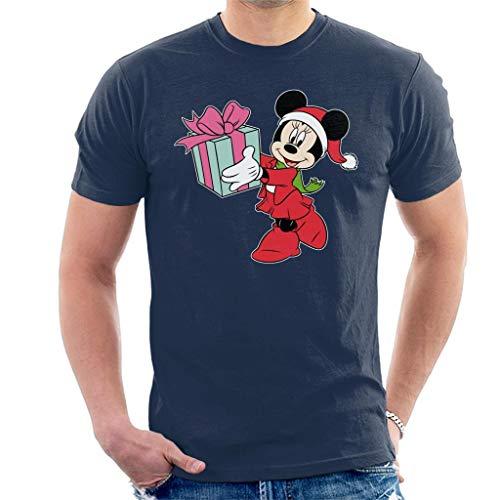 Disney Minnie Mouse Christmas Box Giving Men's T-Shirt