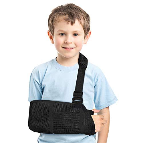 Armschlinge Kinder, Armschlinge für Gebrochenen Arm Schulterschlinge Kinder mit Daumenschlaufe und Schulterpolster, Arm immobilizer Armschlaufe für Handgelenk, Ellbogen, Schulterverletzung